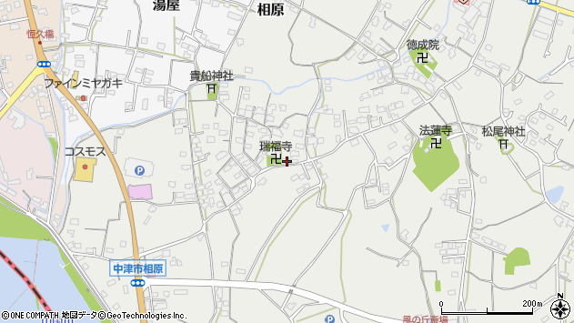 大分県中津市相原3596周辺の地図
