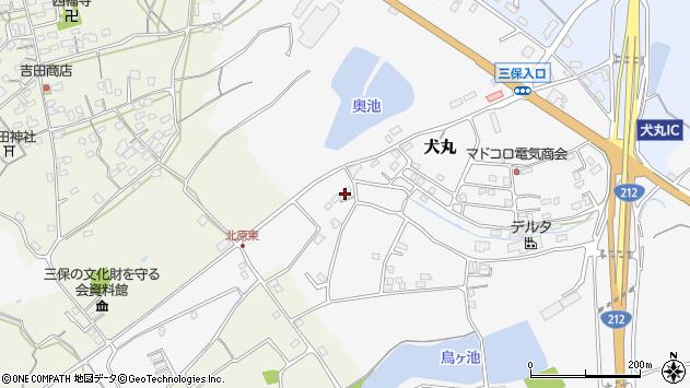 大分県中津市犬丸2282周辺の地図
