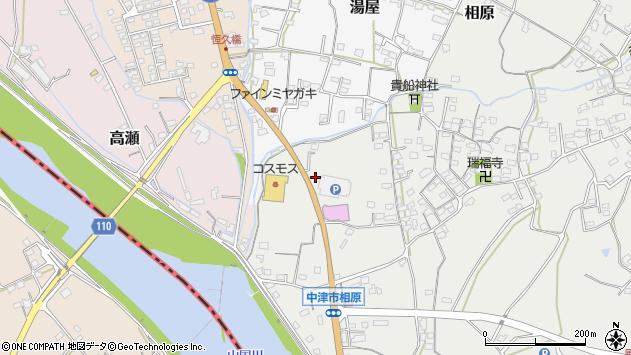 大分県中津市相原3317周辺の地図