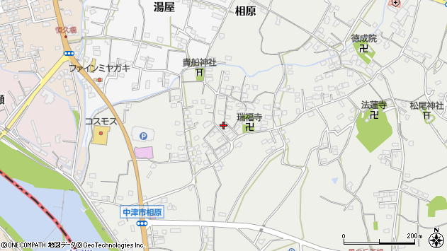 大分県中津市相原3611周辺の地図