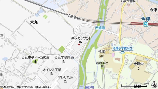 大分県中津市犬丸370周辺の地図