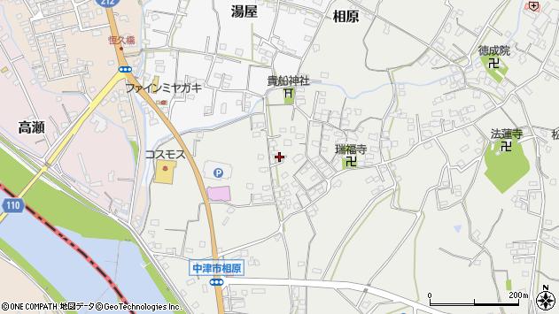 大分県中津市相原3637周辺の地図