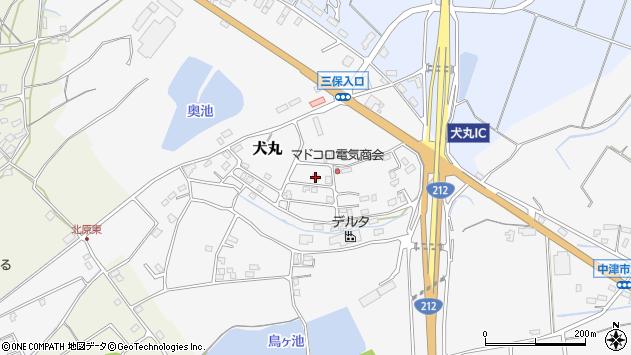 大分県中津市犬丸2332周辺の地図