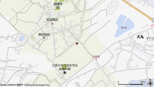 大分県中津市北原208周辺の地図