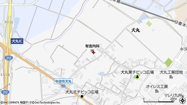 大分県中津市犬丸1925周辺の地図