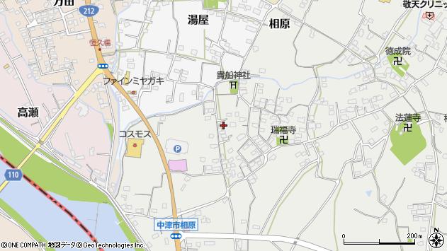 大分県中津市相原3653周辺の地図