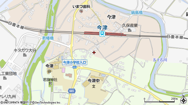 大分県中津市今津1076周辺の地図