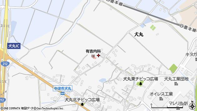 大分県中津市犬丸2061周辺の地図