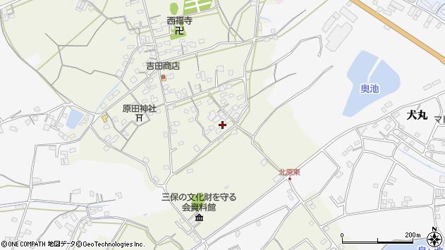 大分県中津市北原825周辺の地図