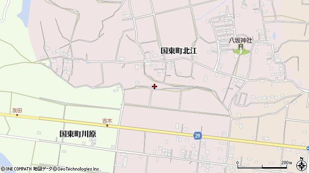 大分県国東市国東町北江402周辺の地図