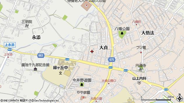 大分県中津市大貞347周辺の地図