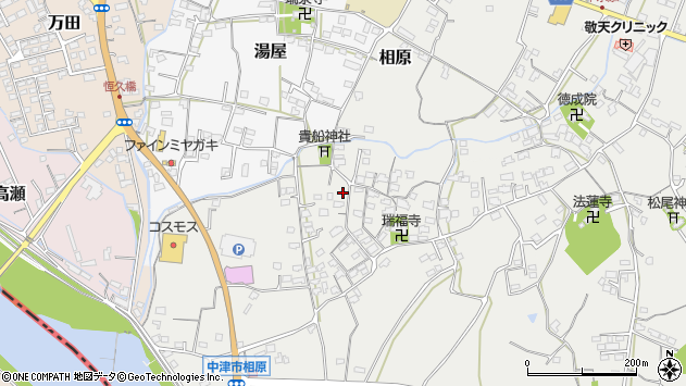 大分県中津市相原3659周辺の地図