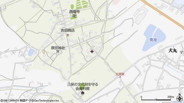 大分県中津市北原822周辺の地図