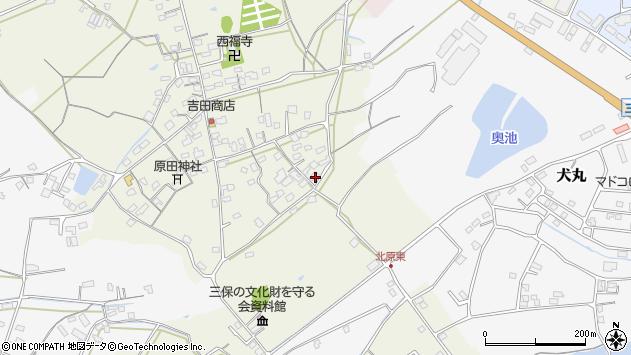 大分県中津市北原820周辺の地図