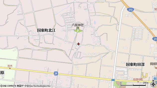 大分県国東市国東町北江950周辺の地図