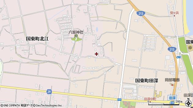 大分県国東市国東町北江975周辺の地図