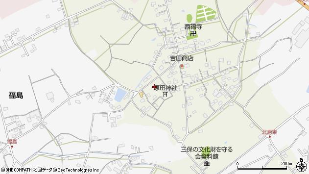 大分県中津市北原393周辺の地図