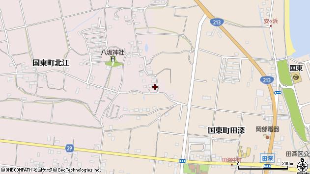 大分県国東市国東町北江977周辺の地図