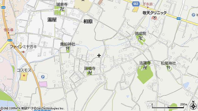 大分県中津市相原3703周辺の地図