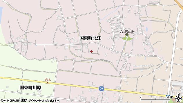 大分県国東市国東町北江807周辺の地図