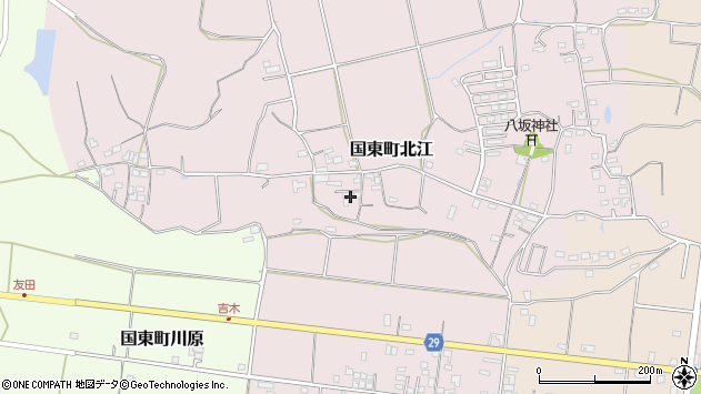 大分県国東市国東町北江666周辺の地図
