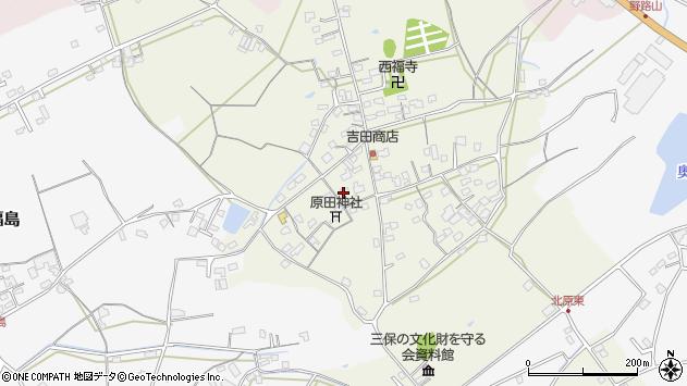 大分県中津市北原303周辺の地図