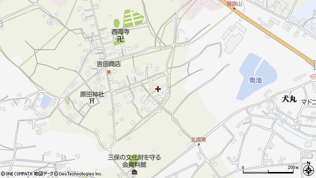 大分県中津市北原815周辺の地図