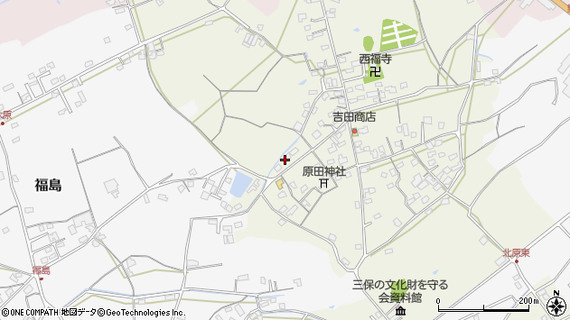 大分県中津市北原416周辺の地図