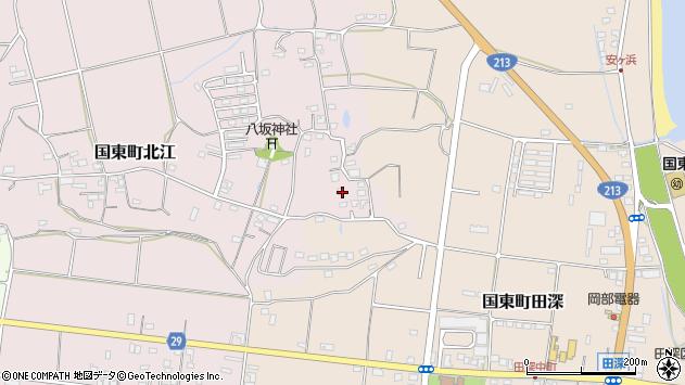 大分県国東市国東町北江997周辺の地図