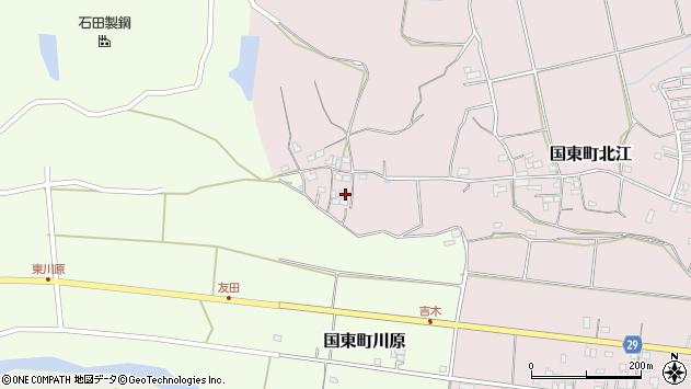 大分県国東市国東町北江520周辺の地図