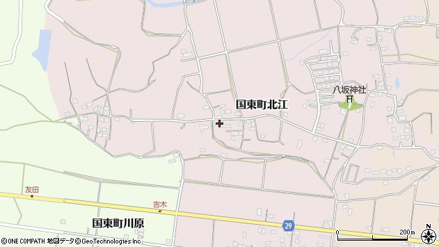 大分県国東市国東町北江682周辺の地図