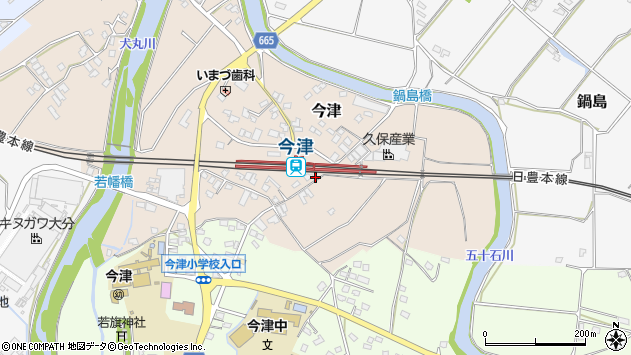 大分県中津市今津991周辺の地図