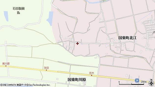 大分県国東市国東町北江533周辺の地図