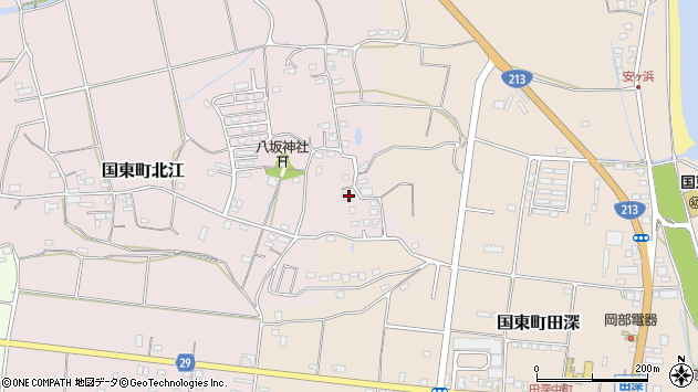 大分県国東市国東町北江1020周辺の地図
