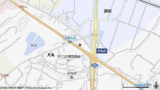 大分県中津市犬丸2391周辺の地図