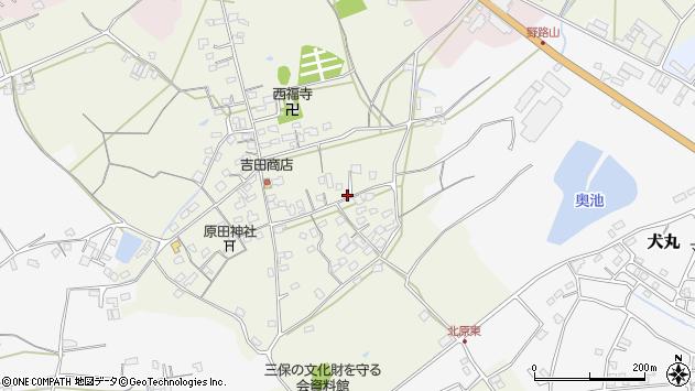 大分県中津市北原771周辺の地図