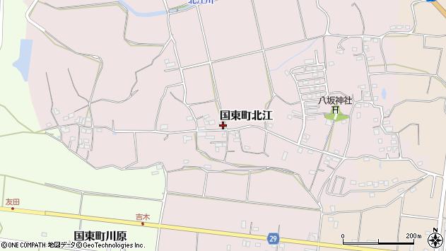 大分県国東市国東町北江677周辺の地図