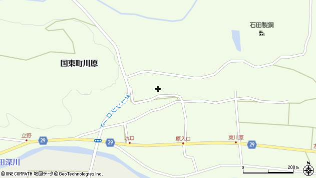 大分県国東市国東町川原1358周辺の地図
