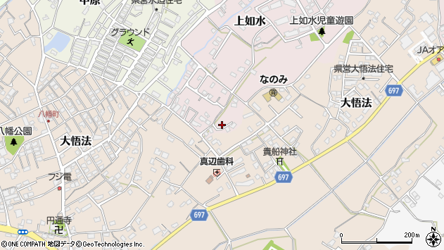 大分県中津市上如水1073周辺の地図
