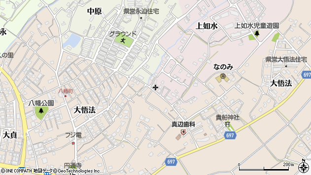 大分県中津市上如水1064周辺の地図