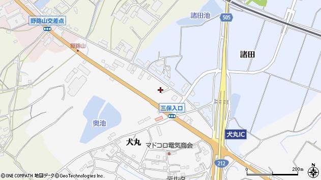 大分県中津市犬丸2398周辺の地図