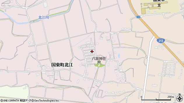 大分県国東市国東町北江887周辺の地図