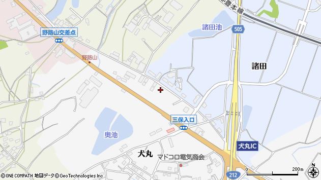 大分県中津市犬丸2409周辺の地図