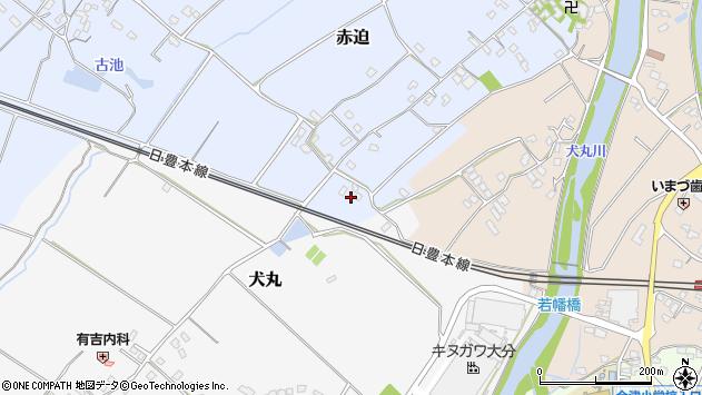 大分県中津市赤迫41周辺の地図
