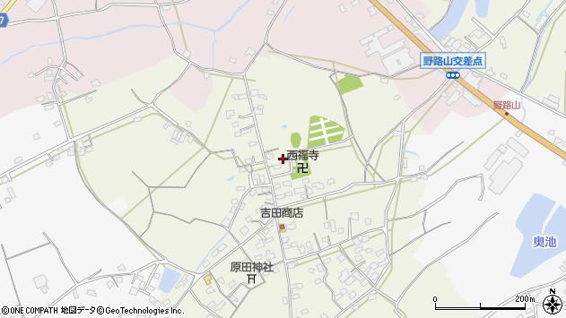 大分県中津市北原603周辺の地図