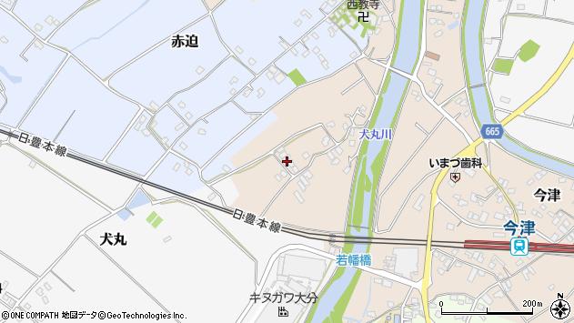 大分県中津市今津712周辺の地図