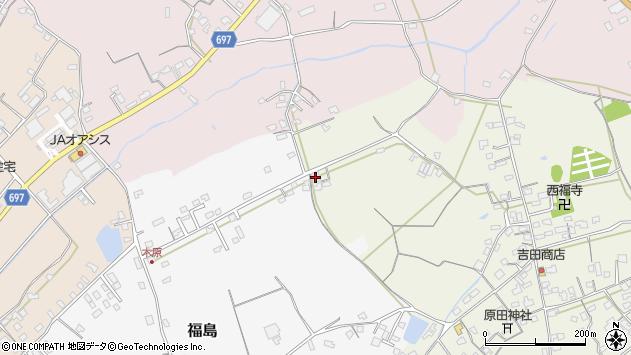 大分県中津市北原538周辺の地図