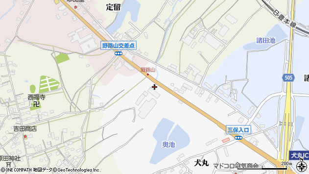 大分県中津市犬丸2475周辺の地図