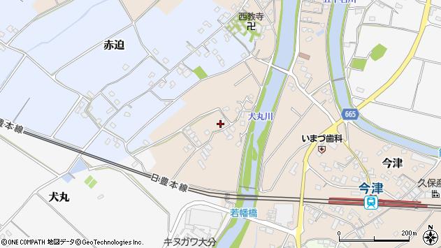 大分県中津市今津674周辺の地図