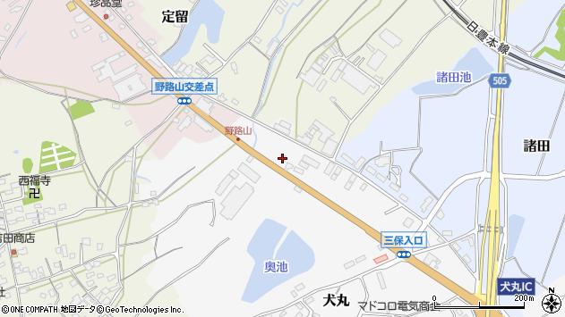 大分県中津市犬丸2478周辺の地図